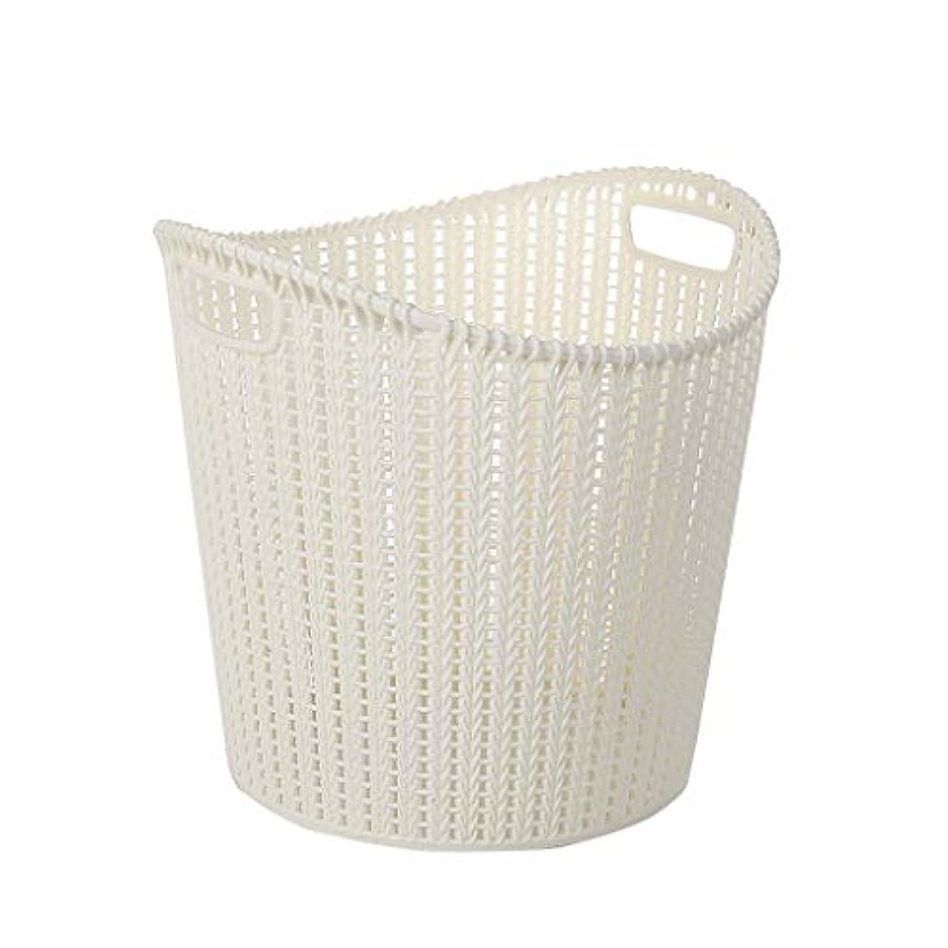 分泌する招待ピックSMMRB ハンドル収納バスケット、カビや湿気のない、浴室での使用に適したプラスチック製の邪魔板、オプションで3色 (色 : 白)