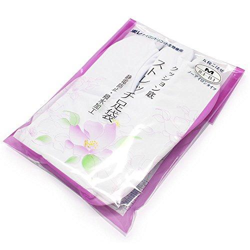 (キョウエツ) KYOETSU 東レ レディース伸びるストレッチ白足袋 5枚こはぜ 女性 ナイロントリコット生地 21cm-28cm (L 23.5-24.5cm)