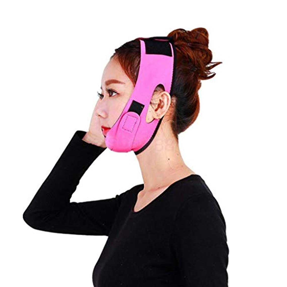 豊富に永久に人柄FidgetGear マスカーベルトの皮を細くするVフェイスシェイパーはバンドストラップを持ち上げるあごを引き締めます