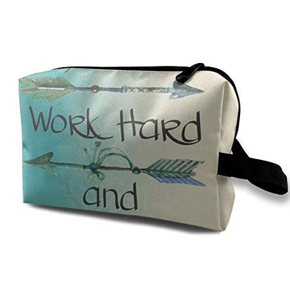 インスタント実用的緑Stay Positive Work Hard And Make It Happen 収納ポーチ 化粧ポーチ 大容量 軽量 耐久性 ハンドル付持ち運び便利。入れ 自宅?出張?旅行?アウトドア撮影などに対応。メンズ レディース...