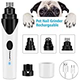 Ultra Quiet Pet Nail Grinder for Dogs Electric Rechargeable USB Charging Dog Nail Grinder for Small Medium Large Dogs Cats and Other Animal Paws