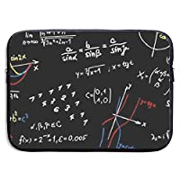 Math Formulas Teacher 13-15インチラップトップスリーブバッグ-タブレットクラッチキャリングケース、耐水性、ブラック-15インチ
