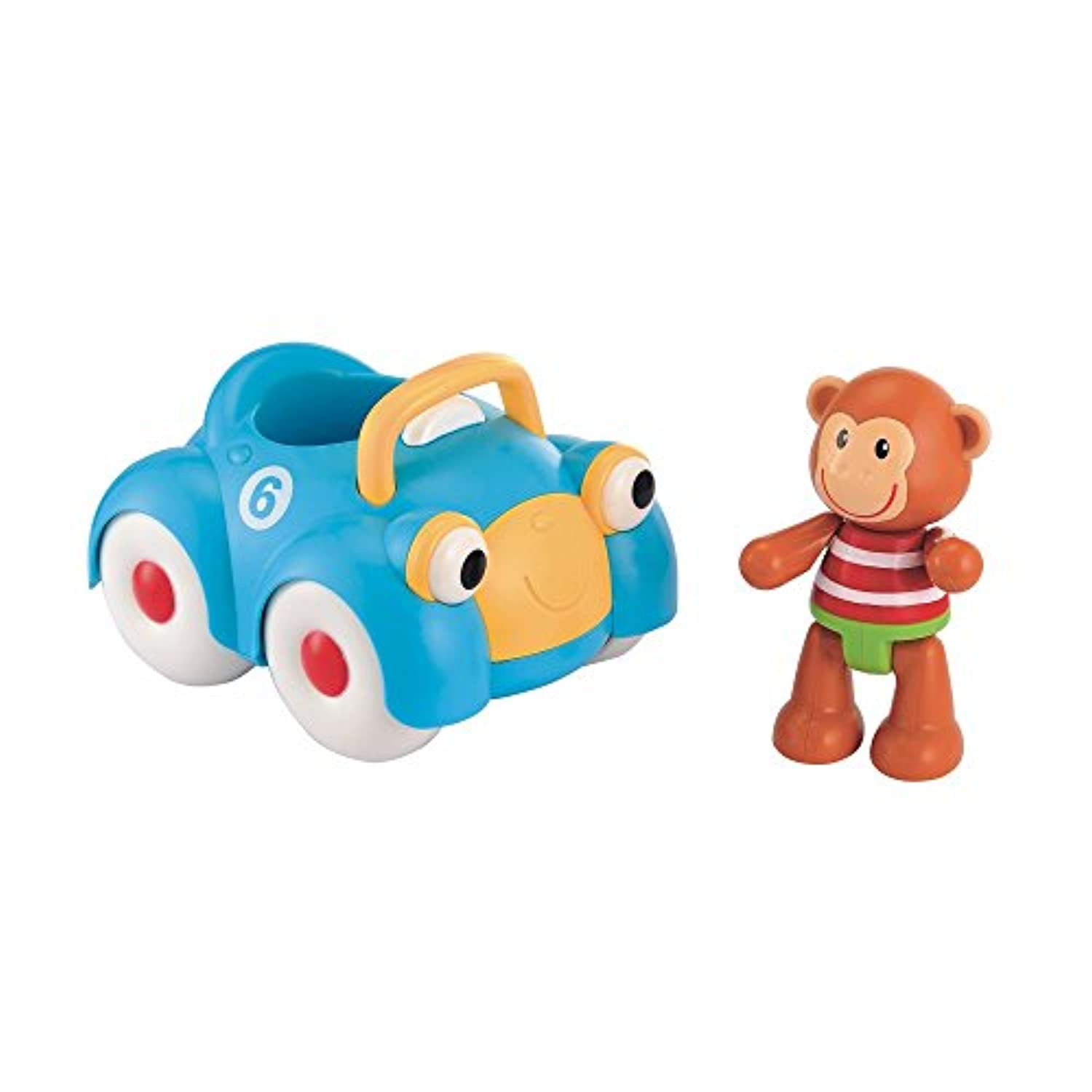 Early Learning Centre Toybox Monty Monkey And His Racing Car