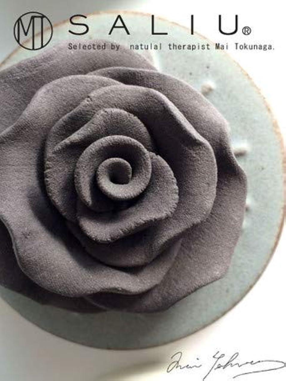 るスカルク眉をひそめるLOLO ロロ SALIU ローズセットh 灰 グレー ローズ?トレイ:陶器 フレグランスオイル内容量5ml