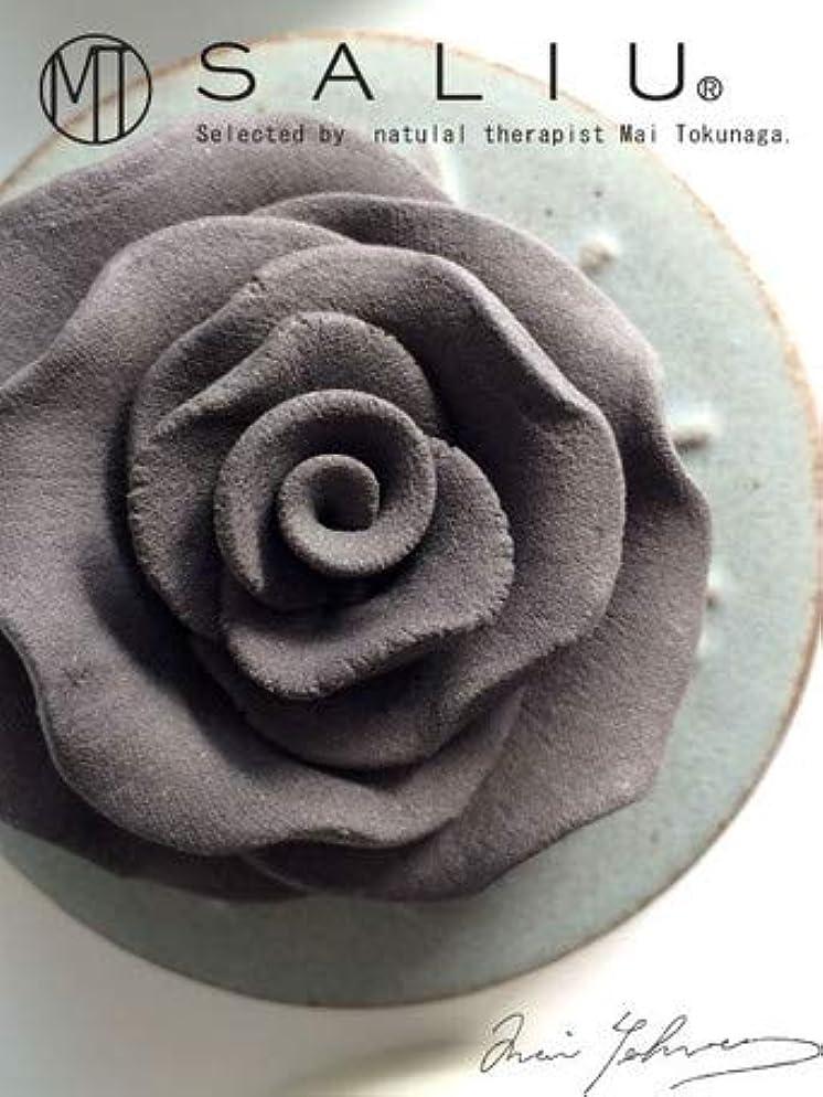 ウィンク鏡重々しいLOLO ロロ SALIU ローズセット 黒 ブラック ローズ?トレイ:陶器 フレグランスオイル内容量5ml