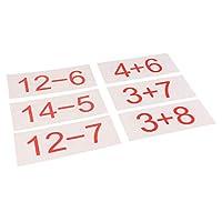 Generic 小学校のための数学のスキルを開発するための子供の数学のフラッシュカード - 加算減算20以内