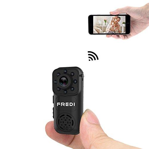 FREDI 隠しカメラ 小型 1080P高画質 録音 4分割画面対応 スパイカメラ WiFi ネットワークいらずも対応可能 隠しビデオカメラ 動体検知 暗視 広角140度 iPhone / Android に遠隔監視・操作
