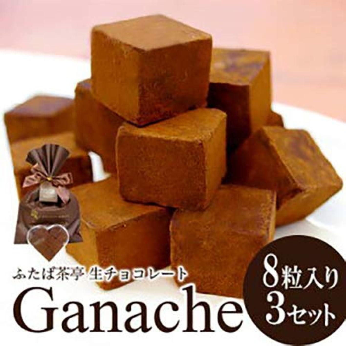振るマウントナチュラ母の日 ふたば茶亭 ハートケース入り生チョコレート 8粒入×3セット