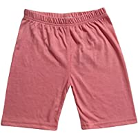 Kids Girls Cycling Shorts Stretchy Gym Dance Summer Short Knee Length Half Pants