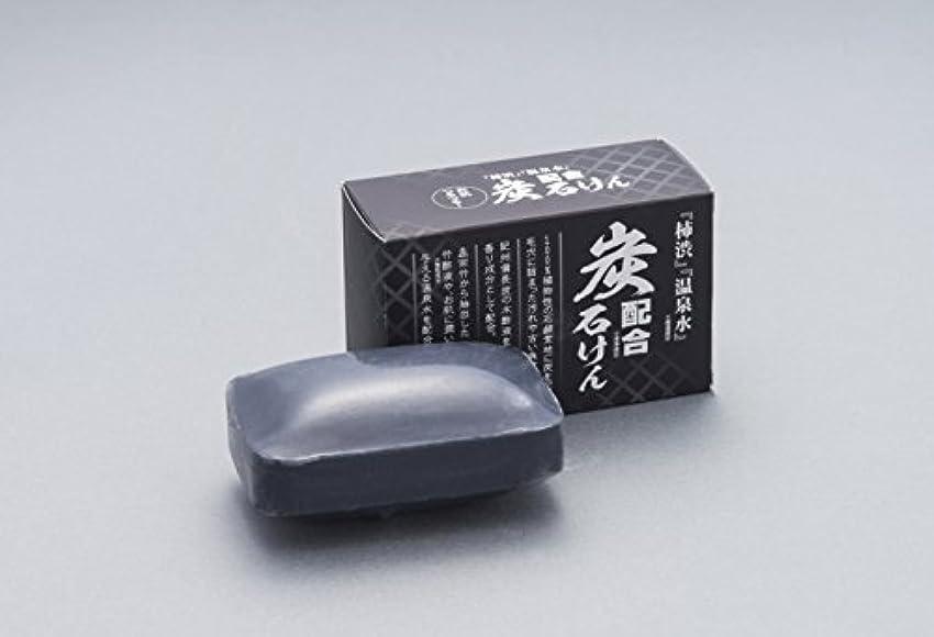 穀物混乱した東柿渋?温泉水配合炭石鹸  128g 化粧箱入