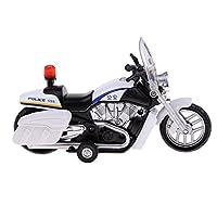 B Blesiya 全2色 ダイキャスト 合金製 オートバイモデル バイク模型 プルバックおもちゃ - 白