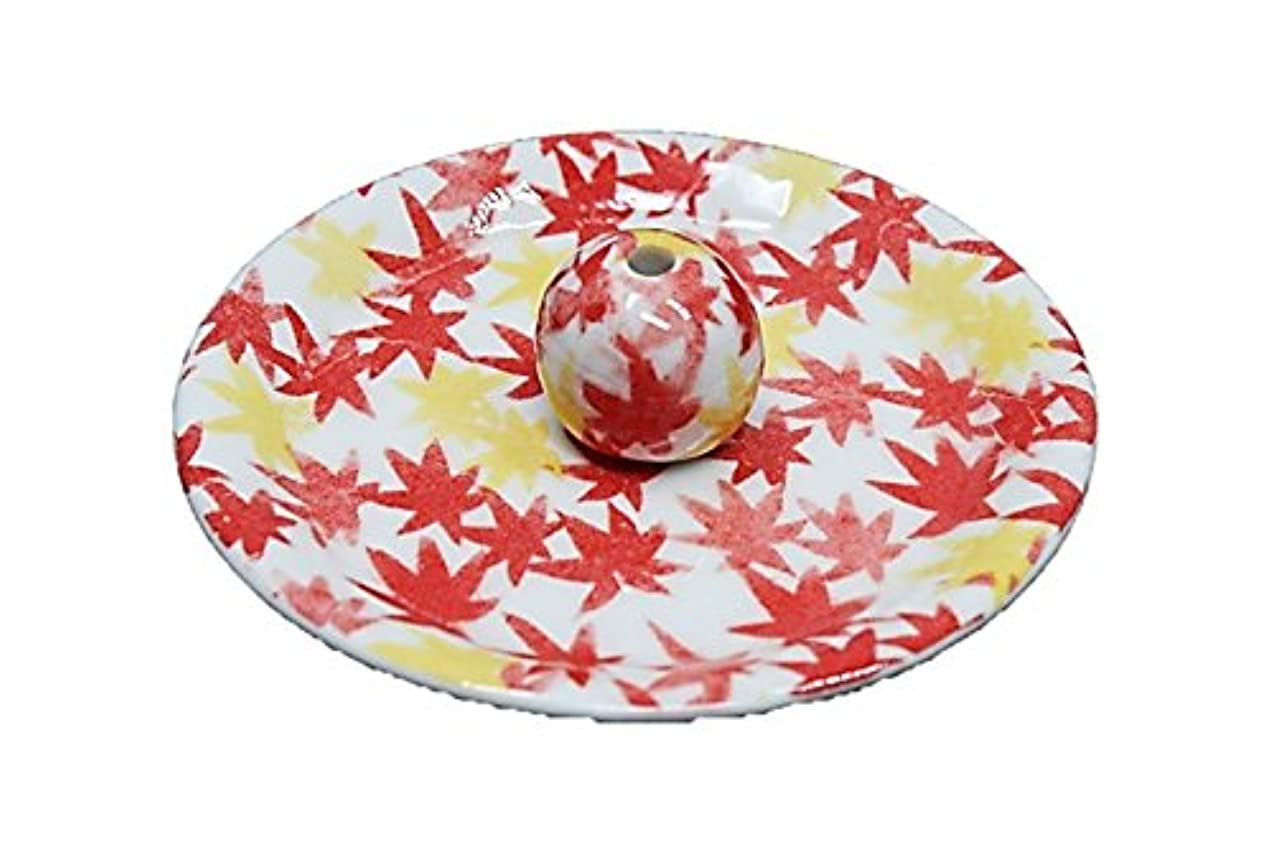 なぜなら波静かに9-18 和路 朱 9cm香皿 お香立て お香たて 陶器 日本製 製造?直売品