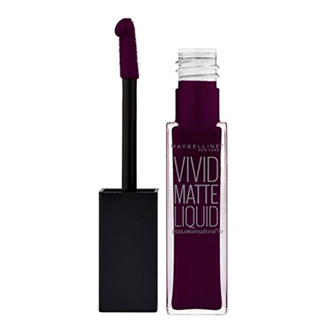 悲しむ五十のスコアMAYBELLINE Vivid Matte Liquid - Possessed Plum (並行輸入品)
