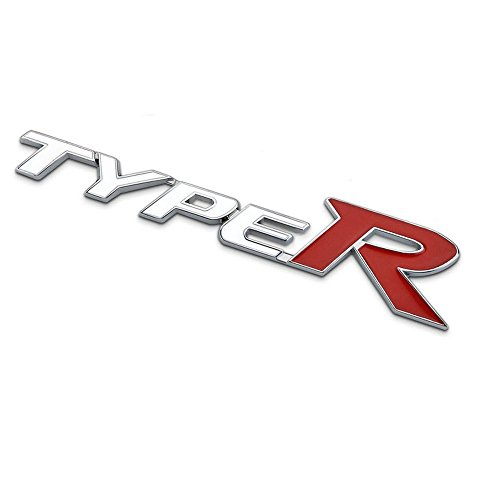 Mercury 汎用TYPE-R エンブレム ブラック タイプR ホンダ シビック CIVIC フィット FIT (ホワイト)
