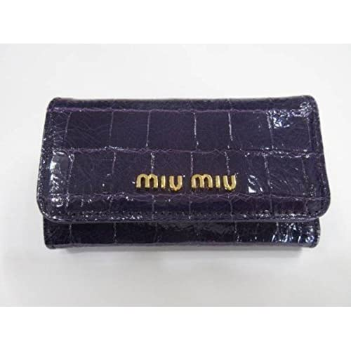 (ミュウミュウ)MIU MIU 6連キーケース クロコ柄 パープル m186 [並行輸入品]