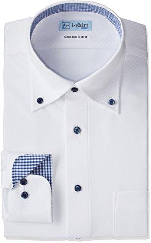 (はるやま)HARUYAMA i-shirt 完全ノーアイロン ボタンダウンアイシャツ H152170008 01 01_ホワイト M(首回り39cm×裄丈82cm)