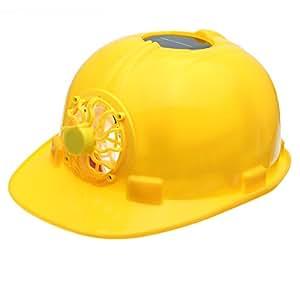 ヘルメット 扇風機 内蔵 ソーラーパワー 安全 作業 帽子 by Hgala