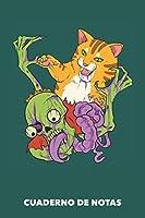 Cuaderno de Notas: Charlas contra zombis A5 pautadas - 120 páginas para dueños de gatos (verdemar)