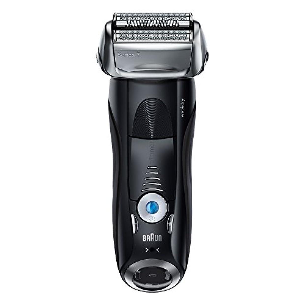 値誇張する青写真ブラウン メンズ電気シェーバー シリーズ7 7842s 4カットシステム 水洗い/お風呂剃り可