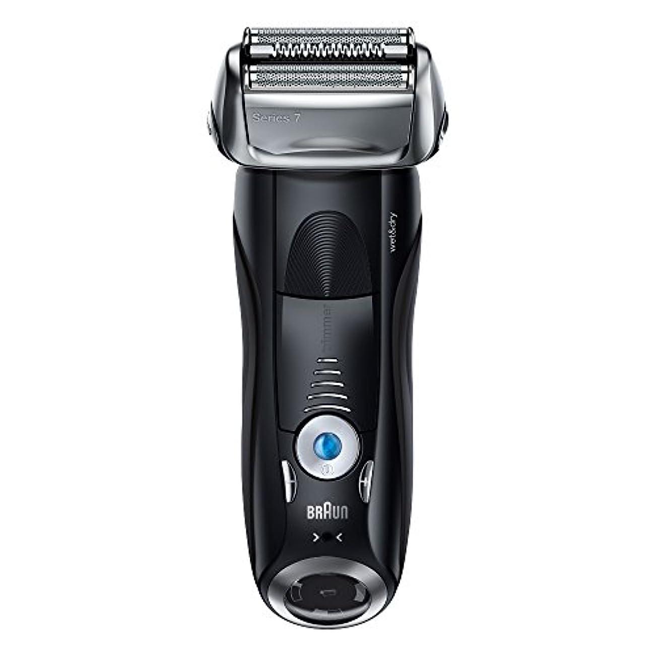 貫通週末日記ブラウン メンズ電気シェーバー シリーズ7 7842s 4カットシステム 水洗い/お風呂剃り可