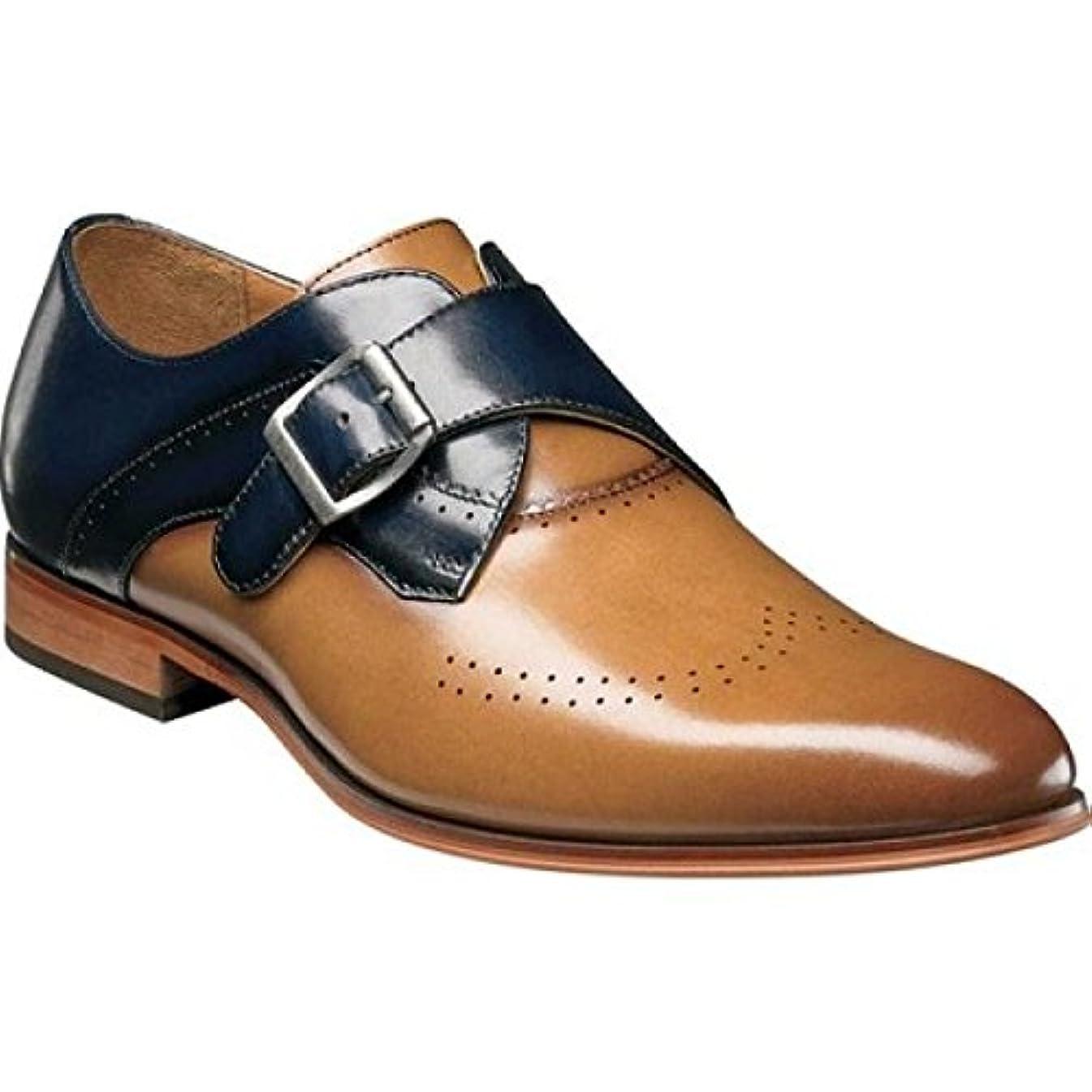抑制舗装どちらか(ステイシー アダムス) Stacy Adams メンズ シューズ?靴 革靴?ビジネスシューズ Saxton Wingtip Monk Strap 25178 [並行輸入品]