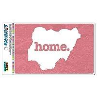 ナイジェリアホームカントリー MAG-NEATO'S(TM) ビニールマグネット - テクスチャサーモンピンク