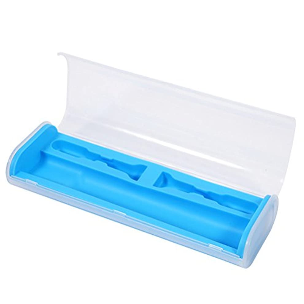 操る骨髄サイトROSENICE ユニバーサル電気 歯ブラシケース 旅行キャンプポータブルストレージホルダーボックス(青)