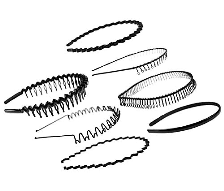 気怠いビザ類人猿ユニセックスブラックメタル/プラスチックヘアフープヘアバンドガールメンズヘアアクセサリー、7PCS