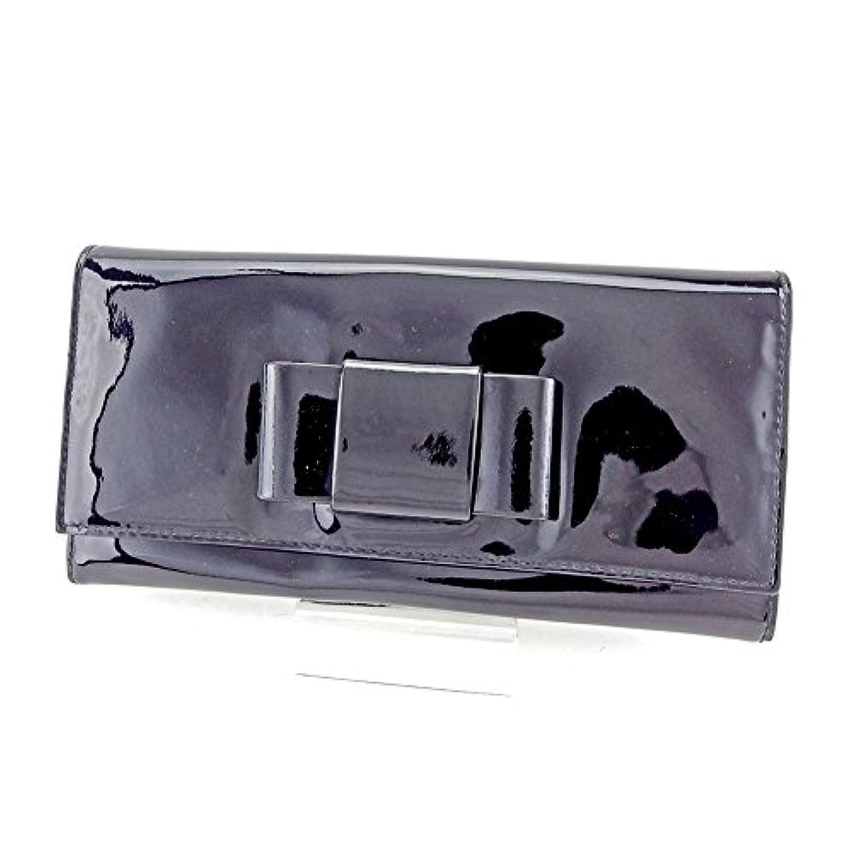[ミュウミュウ] miu miu 長財布 財布 ファスナー付き レディース リボンモチーフ 中古 T4157