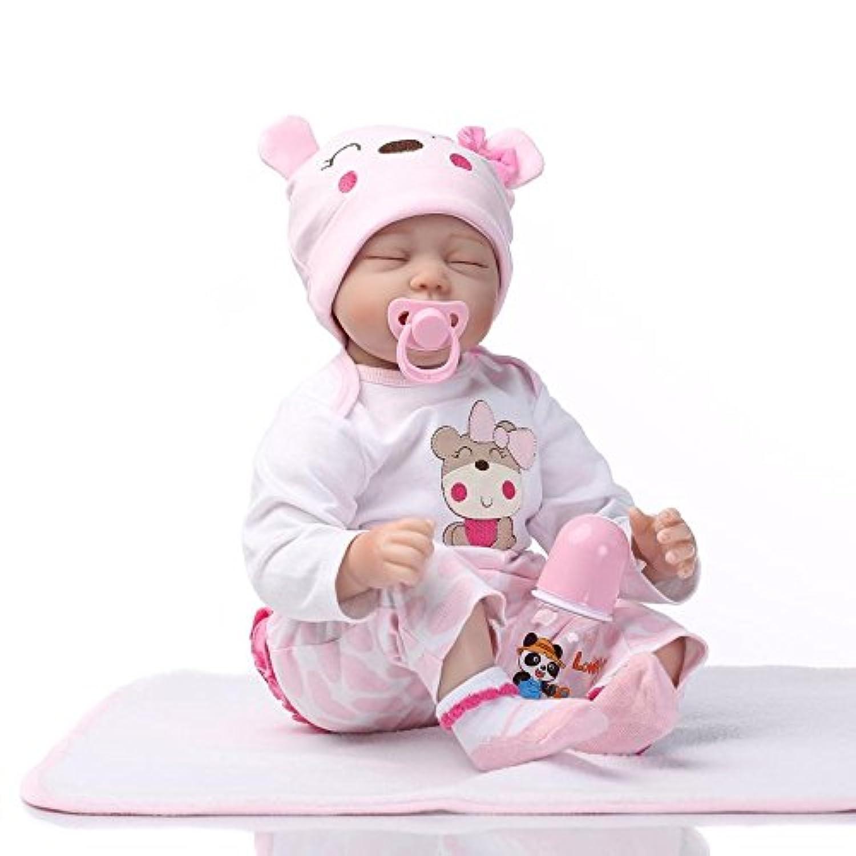 Herin Rebornベビー人形ソフトSiliconeビニールLovely Lifelikeベビーおもちゃピンクかわいいガールズ