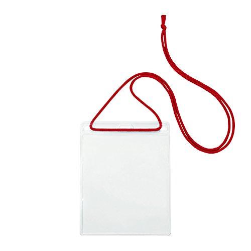 OP 簡易吊り下げ名札 イベントサイズ 10枚 赤