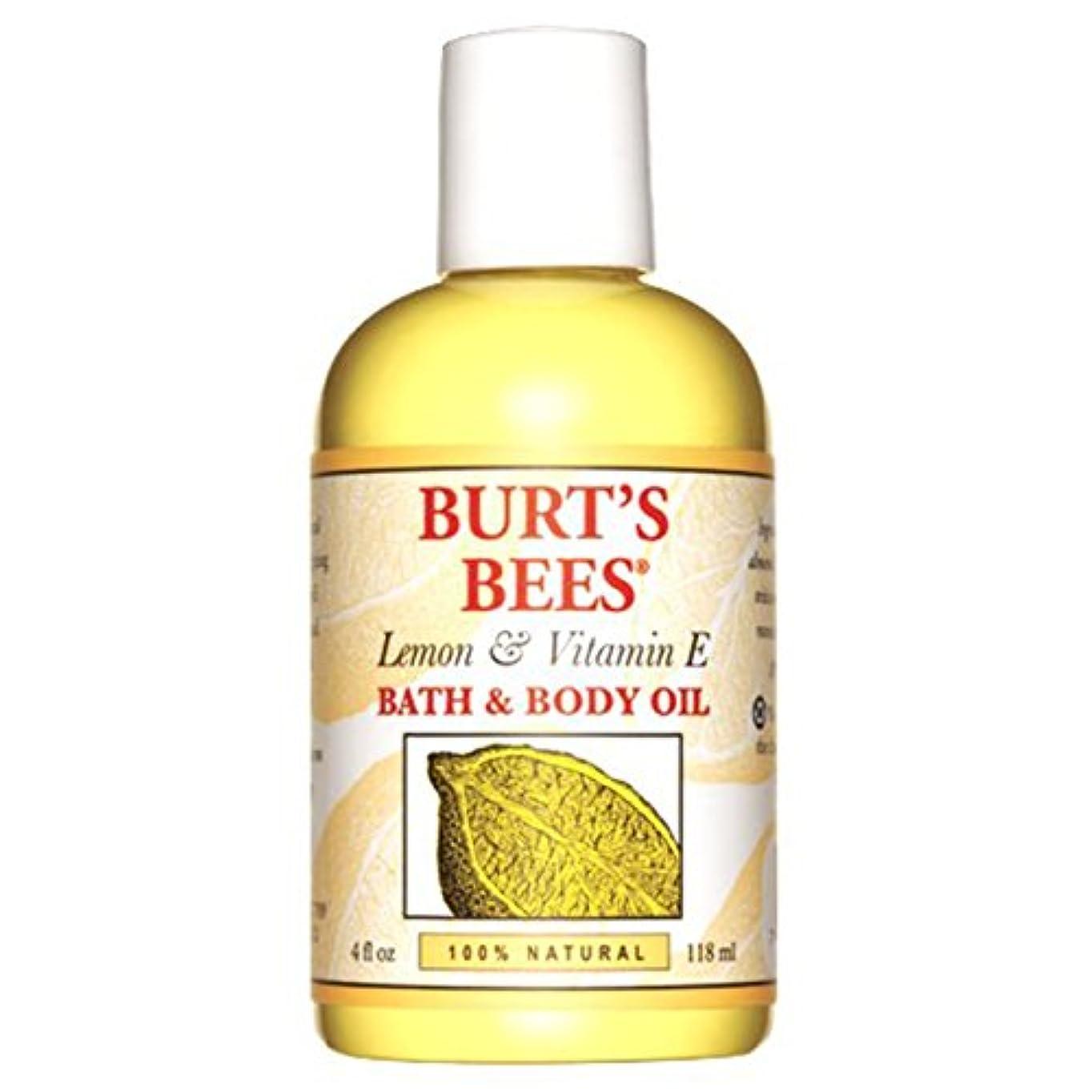 傾斜機械香ばしいバーツビーズ (Burt's Bees) L&E バス&ボディオイル 118ml
