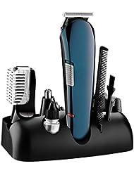 男性のための電気トリマーひげ、髪、顔、鼻毛、眉毛、ホイルシェーバーモデリング精密5 in 1鼻毛トリマー用グルーミングキット