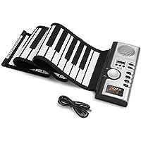 Lujex ロールアップキーボード ピアノ 61鍵 ハンドロール 電子ロールピアノ