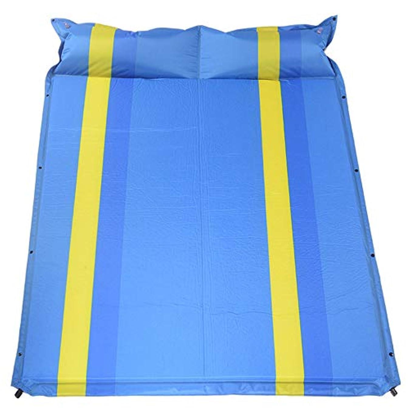 不規則性裁判所操縦するインフレータブル睡眠マット、屋外ダブル自動インフレータブルマット肥厚拡幅テントキャンプマットフラットラバースリーピングマット
