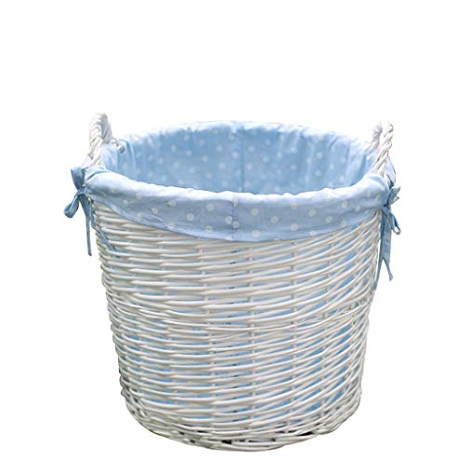 届けるカナダサンダルQYSZYG 枝編み細工品収納バスケットバレルダンパー洗濯かご、白手作り、3サイズ 収納バスケット (サイズ さいず : 35*36cm)