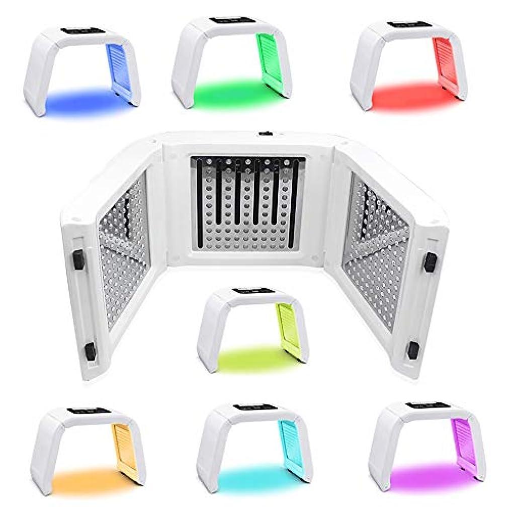 雨のペルメル習慣7色LEDマスク光線療法美容機器光線力学マスク機器分光計肌の若返りデバイス,7