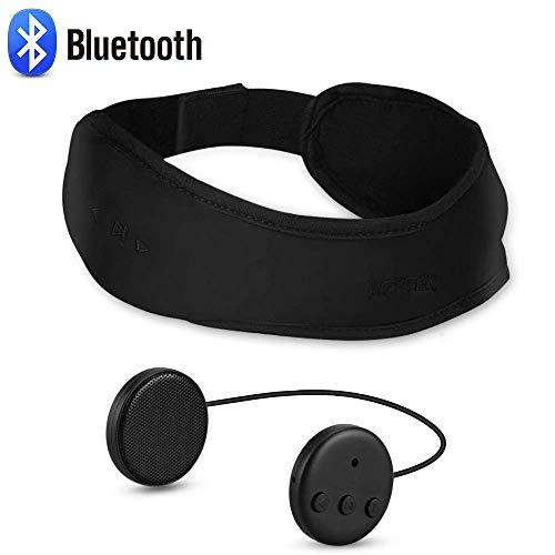 AGPTEK Bluetoothヘッドバンド 音楽/通話 headband USB充電式 洗濯可 分離式イヤホン内蔵 男女兼用 ジョギング/ハイキング/山登り/ヨガ/スケート/フィットネスに適合 BHD01 ブラック