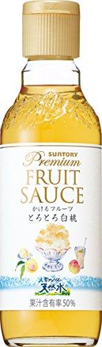 サントリー 南アルプスの天然水 プレミアムフルーツソース白桃 300ml瓶