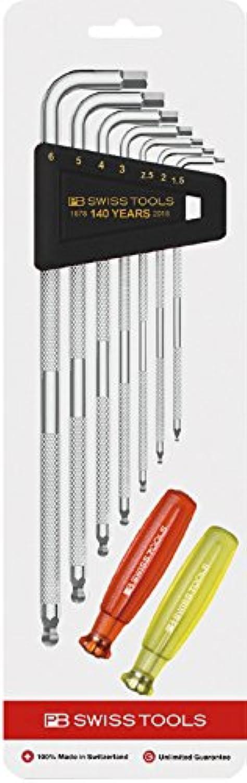 PB SWISS TOOLS 六角棒レンチ ローレット付ロング六角棒レンチセット PB140周年記念モデル 3212LH-6SPCNJ ローレット付ロング六角棒レンチ