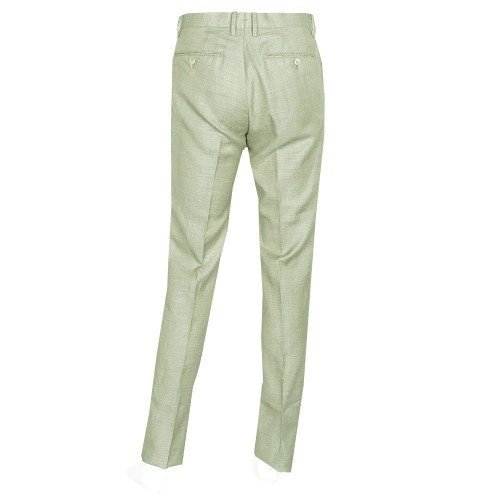 【ARTISAN】アルチザン リネン混デザインスラックスパンツ(ワンタック) 緑 size M