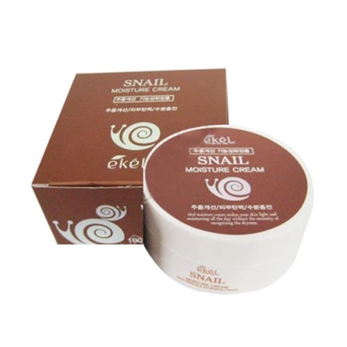 成人期支援する好奇心盛イケル[韓国コスメEkel]Snail Moisture Cream カタツムリモイスチャークリーム100g [並行輸入品]
