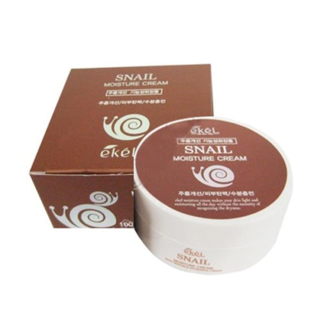 深遠シンプトン虫イケル[韓国コスメEkel]Snail Moisture Cream カタツムリモイスチャークリーム100g [並行輸入品]