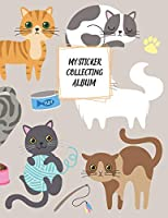 My Sticker Collecting Album: Blank Sticker Book Large Size 8.5x11 100 pages