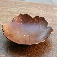 【アジア工房】ココナッツシェルの花型デコレーショントレイ[11275] [並行輸入品]