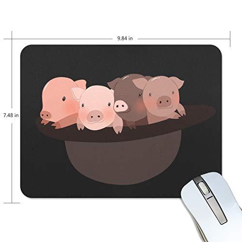 豚ちゃん マウスパッド ワイヤレスマウスパッド 滑り止めゴム底 滑りやすい表面 マウス対応 高耐久性 おしゃれ 安定 便...