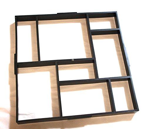 DIY ガーデニング セメント コンクリート 型枠 レンガ 成型 モールド プラスチック 金型 (タイプB・1枚)