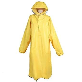 【AMARISE】 レインコート (ポンチョ タイプ、袖つき) レインウェア イエロー(黄色) 男女兼用 フリーサイズ