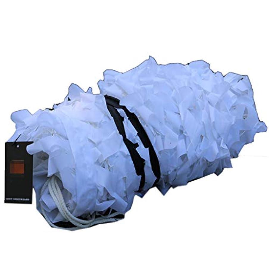 速度ハシーアブストラクトカモフラージュネット、ウッドランドハンティングキャンプに使用される雪ピュアホワイトカモフラージュネット、マルチサイズ (サイズ さいず : 6 * 6m)