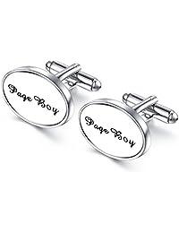 Honey Bear Cufflinks Men - Shirts Stainless Steel Oval Wedding Gift Box